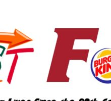 Fast Food Sticker