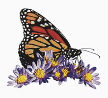 Monarch on Purple Flowers Kids Clothes