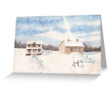 Berkshire Cottage Greeting Card