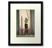 molotov ponytail Framed Print