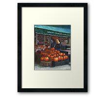 Pumpkins for Sale Framed Print