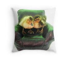 ducks armchair Throw Pillow