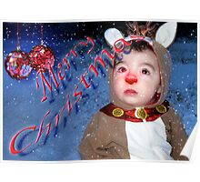 Merry Christmas Rudolph Poster