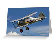 Gloster Gladiator I K7985 G-AMRK banking in the sunshine Greeting Card