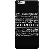 Sherlock in Words iPhone Case/Skin