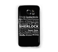 Sherlock in Words Samsung Galaxy Case/Skin