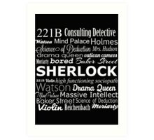 Sherlock in Words Art Print