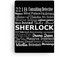 Sherlock in Words Canvas Print