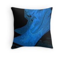 Don't Step on my Blue Suedes... Throw Pillow