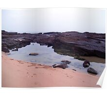 rock pool reflections Poster