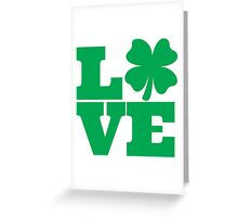 Love Clover Greeting Card