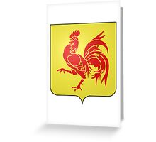 Coat of Arms of Wallonia  Greeting Card