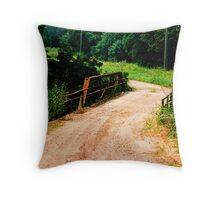 Life is a One Lane Bridge Throw Pillow