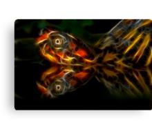 Eastern Box Turtle Fractal Canvas Print