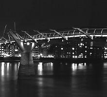 millenium bridge panorama by jon  daly