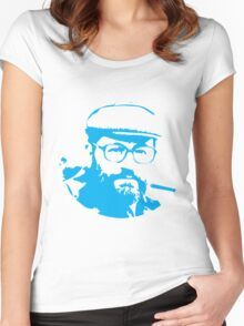 Umberto Eco is watching you Women's Fitted Scoop T-Shirt
