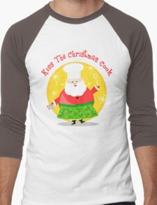 Christmas Santa Chef T-Shirt Men's Baseball ¾ T-Shirt