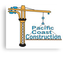 Pacific Coast Construction Canvas Print
