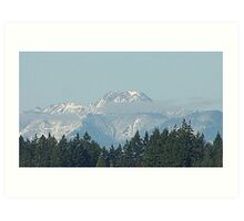 Olympic Mountains With Snow Art Print