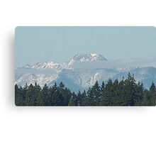 Olympic Mountains With Snow Canvas Print