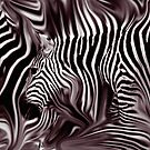 Knee Deep in Zebras by Wayne King