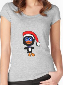 Christmas Penguin Women's Fitted Scoop T-Shirt
