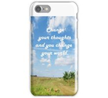 Change Your Thoughts  iPhone Case/Skin