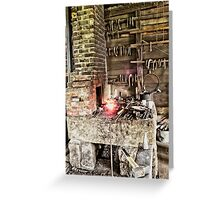 Blacksmith Fire Greeting Card