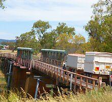 Wooden Trestle Bridge at Gooloogong, NSW by Jan Richardson