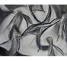 Whirling Dervish Art, Abstract Charcoal & Chalk Drawing  Photographic Print