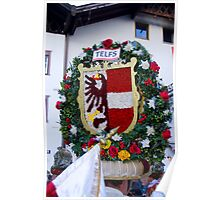 Coat of arms of Austrian town Telfs Poster