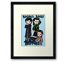 Badass Baby Brothers Framed Print