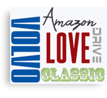Love Drive Classic Amazons Canvas Print