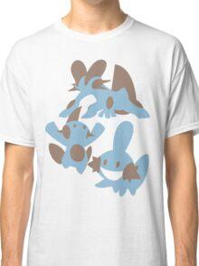 Pokemon Evolution Of Mudkip Classic T-Shirt