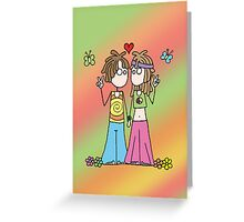 Hippie Lovers Greeting Card