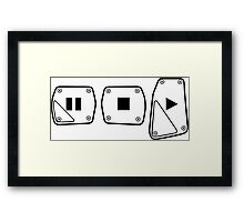 Play Stop Pause Pedals Framed Print