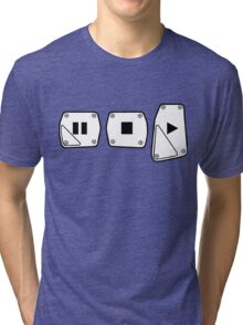 Play Stop Pause Pedals Tri-blend T-Shirt