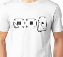 Play Stop Pause Pedals Unisex T-Shirt