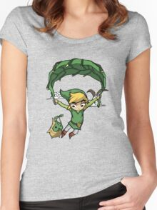Legend Of Zelda - Flying Away Women's Fitted Scoop T-Shirt