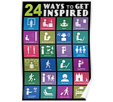 24 WAYS TO GET INSPIRED Poster