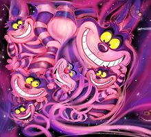 Cheshire Cat from Alice in Wonderland CLASSIC by Ryan Biddle