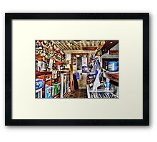 behind the bar Framed Print