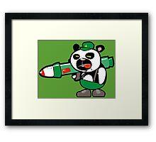 Panda Commando II Framed Print