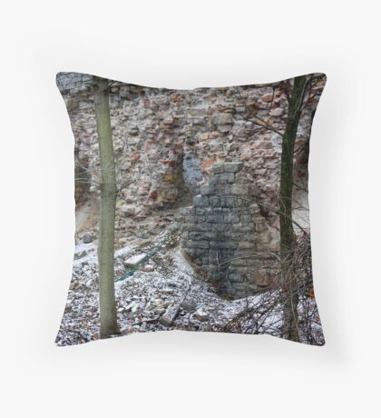 disintegrating kiln Throw Pillow