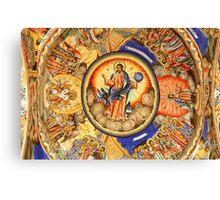 A Rila Monastery Fresco, Bulgaria Canvas Print