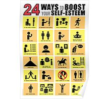 24 WAYS TO BOOST YOUR SELF-ESTEEM Poster