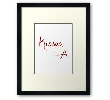 Kisses, A Framed Print