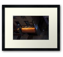 Little Basil, Broadway Alley Framed Print