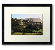 Ruins of the former shale oil refinery, Capertee Valley NSW Framed Print