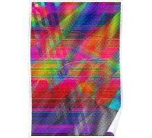 Abstract Glitch Poster